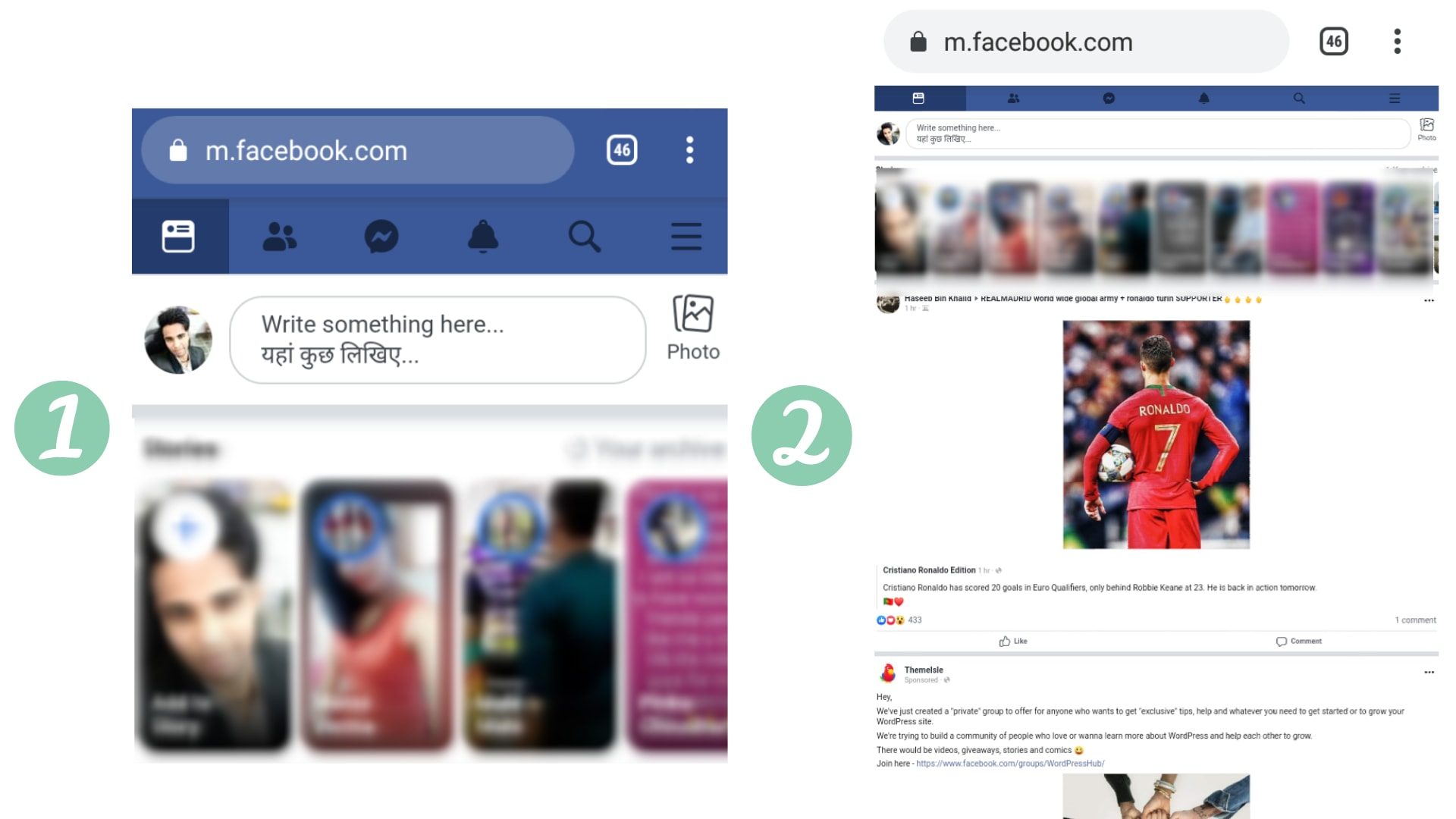 Facebook Full Site on Android