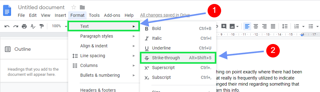 strikethrough 3 - How to Add Strikethrough in Google Docs with shortcut keys