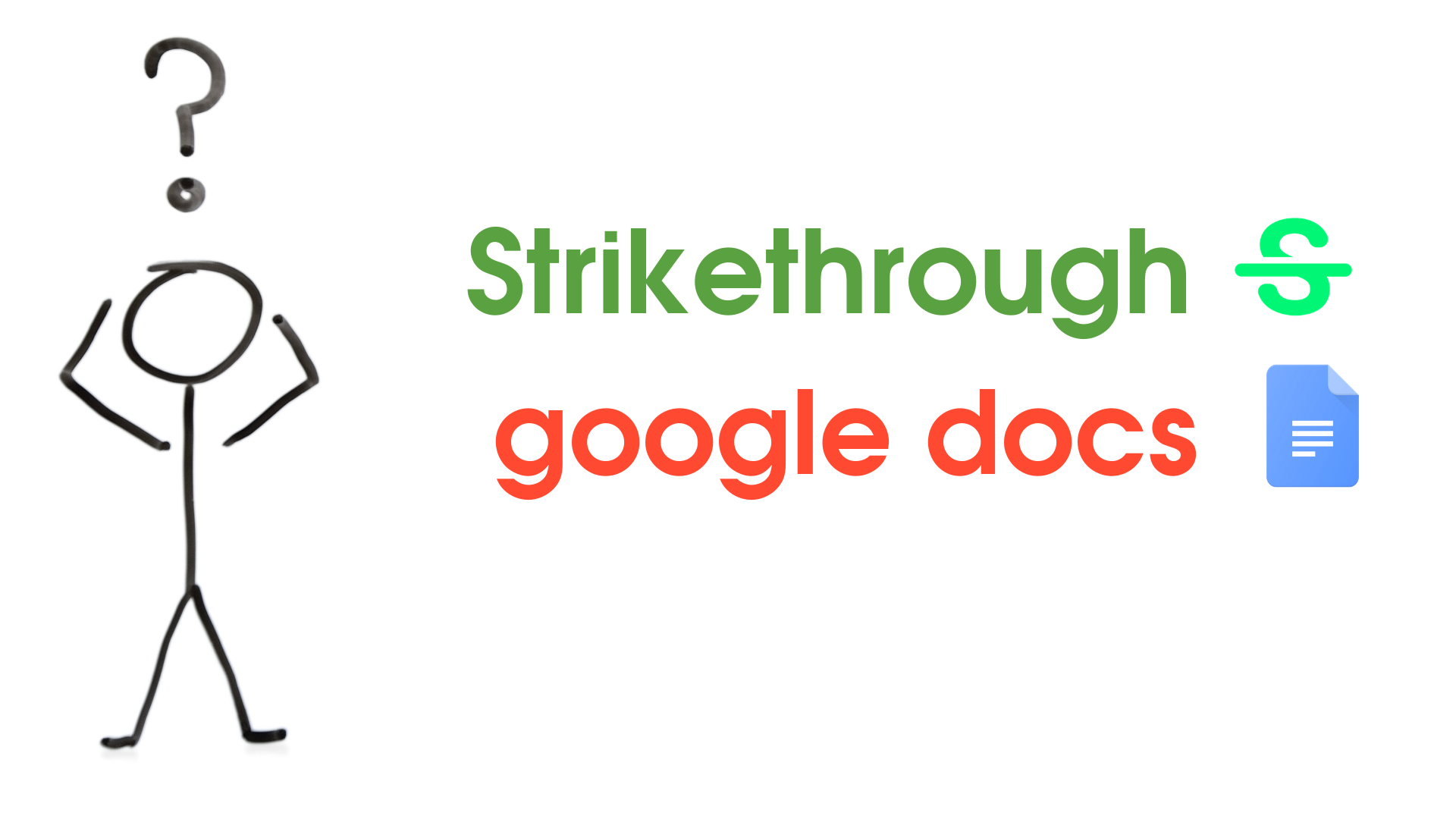 How to Add Strikethrough in Google Docs with shortcut keys