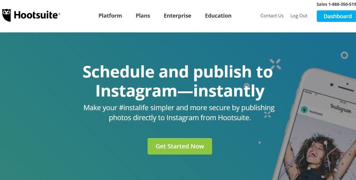 hootsuite instagram - Theme Builder Layout
