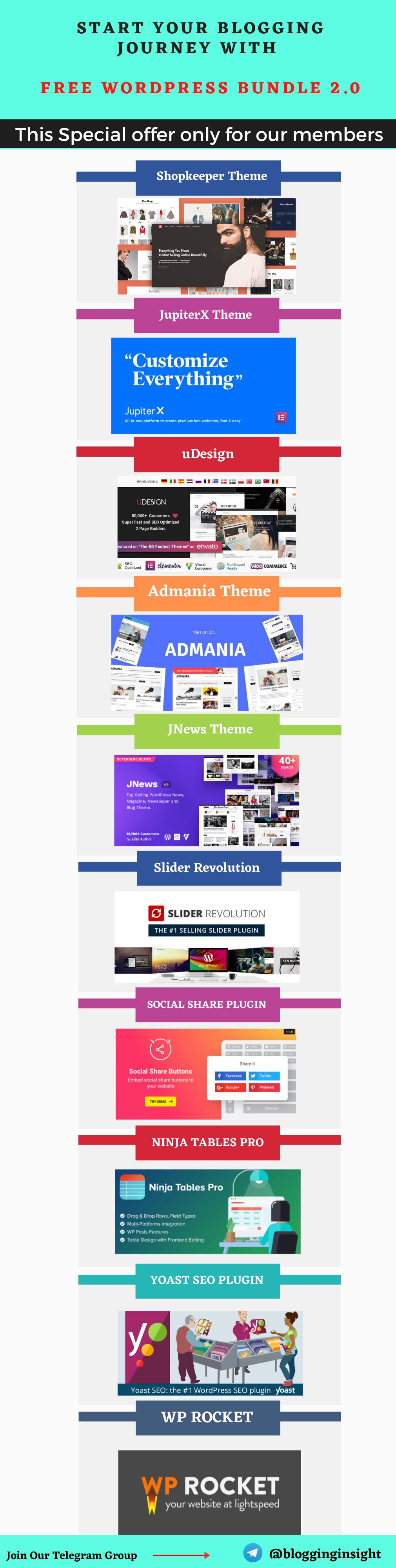Start Your Blogging journey With Wordpress Bundle 6 - WordPress Bundle 2.0