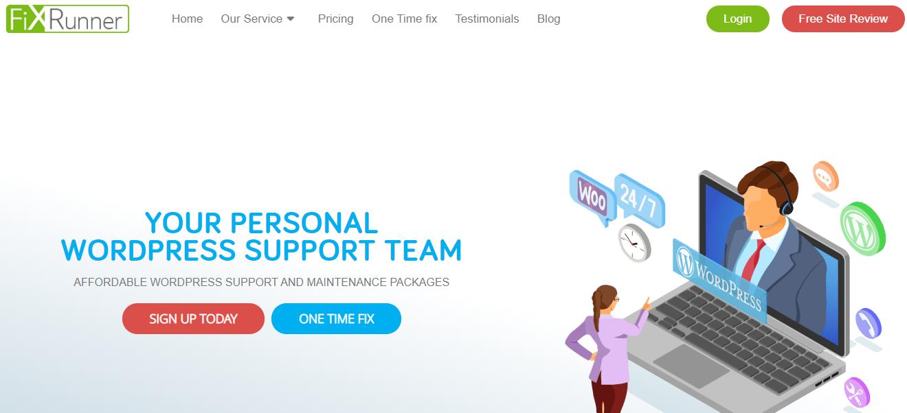 screenshot www.fixrunner.com 2021.02.23 23 43 11 - 15+ WordPress Maintenance and Support Services [Updated 2021]